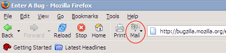 Corrupt Mail icon in Firefox 1.0 Preview Release candidate